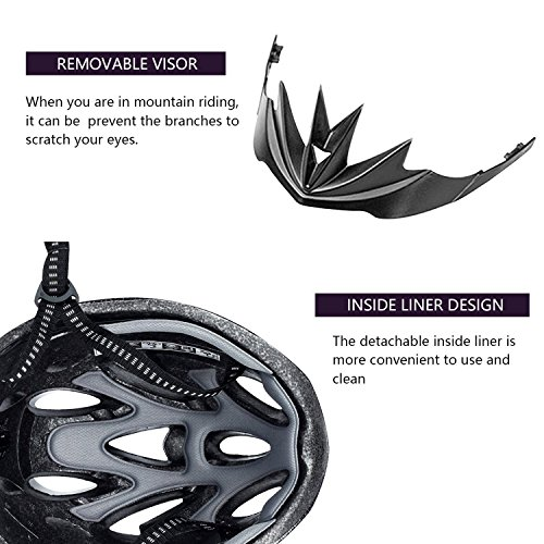 fahrradhelm mit abnehmbare visier mtb fahrrad helm mit 18. Black Bedroom Furniture Sets. Home Design Ideas