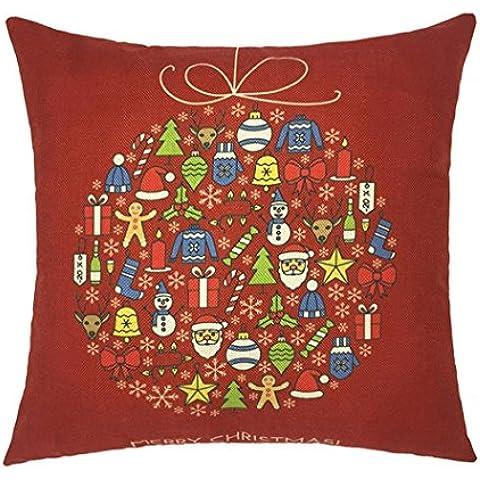 Koly Xmas Navidad Sofá Cama Decoración para el Hogar Festival almohada Funda de cojín de la caja