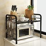 Kitchen furniture Küchenmöbel-WXP Küche Regalboden Mikrowelle Ofen Regal Regal Edelstahl Multilayer Lagerung Regal WXP-Küchenschränke und Besteckschränke (größe : 50*35*50cm)