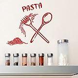 Hwhz 62X59 Cm Italian Pasta Food Meal Wall Stickers Cucchiaio Folk Cafe Cucina Stickers Murali Home Decor Autoadesivo