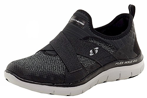 Skechers Flex Appeal 2.0 New Image, Baskets Basses Femme Black/Gray