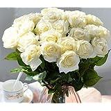 12pcs/lot Real Touch Seda pegar sintética seda Flores Artificiales Rose Home decoración para bodas, cumpleaños o jardín novia ramo de flores de Saint feliz día de San Valentín regalos de fiesta evento