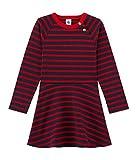 Petit Bateau Mädchen Kleid Robe ml, Mehrfarbig (Smoking/Froufrou 56), 116 (Herstellergröße: 6ans/116cm)