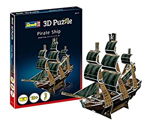 Revell- Barco Pirata 3D Puzzle, (00115)