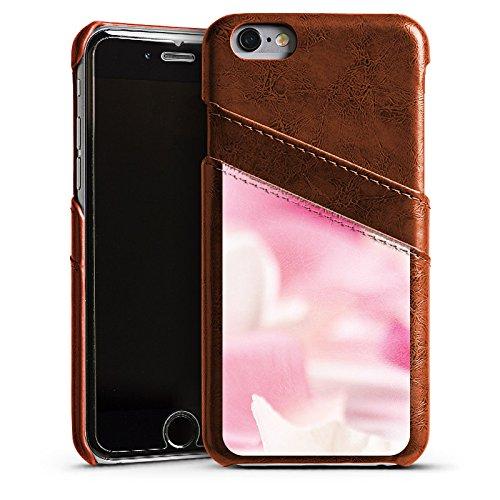 Apple iPhone 6 Housse Étui Silicone Coque Protection Pétales Fleur Fleur Étui en cuir marron
