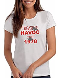 "Da Londra Womens Creating Havoc Since 1978"" 40th Birthday T Shirt Gift"