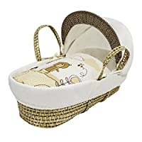Kinder Valley Tiny Ted Moses Basket (Cream)