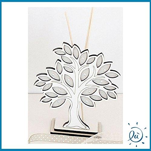 Argenti preziosi italia | bomboniere e idee regalo on line profumatore ambiente albero della vita con base legno misura 12x13 cm