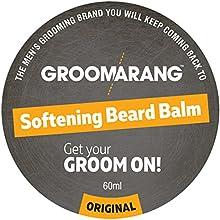 groomarang Premium Softening barba Bálsamo para barba, bigote y perilla 60ml-Promueve saludable crecimiento de la barba-100% natural, orgánico y vegana