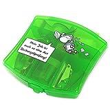 Sheepworld 45162 Mini-Büro-Set 'Mein Job ist auch so eine Art Dschungelprüfung!', Geschenkset, grün