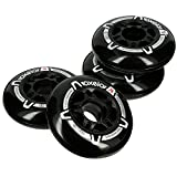#7: OXELO FIT 76MM 80A WHEELS 4-PACK