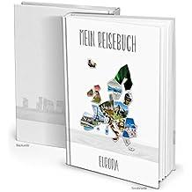 Stylisches XXL Continente Europa Viaje Diario de viaje Cuaderno, 164vacías en blanco de páginas DIN A4para escribir, imágenes einkleben, viaje Experiencias escritura. regalo navidad, cumpleaños.