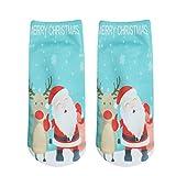 Weihnachten Socken Damen Btruely Weihnachten Geschenk Socken 3D Gedruckt Weihnachten Socken Frauen Casual Socken Nette Unisex Socken Weihnachtsmotiv Weihnachten Baumwolle Socken (F)