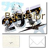 DigitalOase Bachelor 2017 Glückwunschkarte 1 Klappkarte incl. 1 weißes Kuvert GROSS UND EINDRUCKSVOLL DIN A5 (aufgeklappt DIN A4: ca. 20 x 30 cm) - aussen Glanzdruck - innen gut beschriftbar - DigitalOase ist Markenware