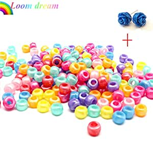 loom dreamTM-Pack of 100 Colorful beads,Colorful Loom Accessories(Mixed Colors 9mm)