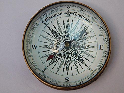 Brújula náutica de latón de 7,6 cm con brújula de barco