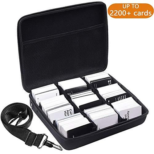 PAIYULE 2200+ Karten Tragen Tasche für C.A.H Card Game / Pokémon Gemischte Karten. alle Anderen Brettspiele Spielkarte Mit Freien 4 Teilern - Schwarz