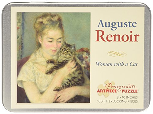 Auguste Renoir Woman with a Cat 100-Piece Jigsaw Puzzle Aa80