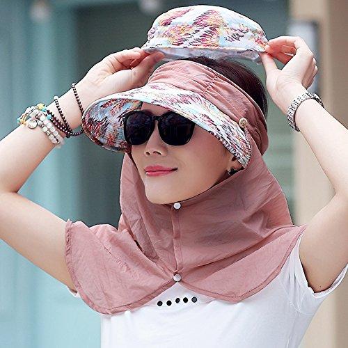 ZHANWEI Sonnenhüte Strand Hut UPF50 + Sommersaison Frau Polyester Erweitern Sie die Krempe UV-Schutz Sonnenschutz Kuppel Zusammenklappbar Einstellbar 3 Farben 55-59cm (Farbe : ()