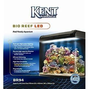 Kent Marine Bio Reef Ready LED Aquarium, 94 Litre