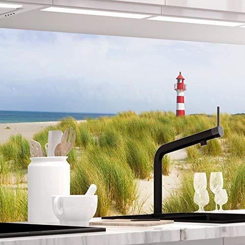 StickerProfis Küchenrückwand selbstklebend Premium NORDSEE 1.5mm, Versteift, alle Untergründe, Hartschicht, 60 x 400cm