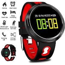 LIGE Fitness Trackers, Impermeable Monitor de Ritmo cardíaco Pantalla de Color Relojes de Fitness Monitores