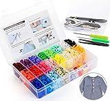 ilauke 400pcs Bouton Pressions Plastiques T5 12mm 20 Coloris + Kit de Pince en Métal avec 2 Rangement de Boîte (10pcs Clip Pince Inclus)