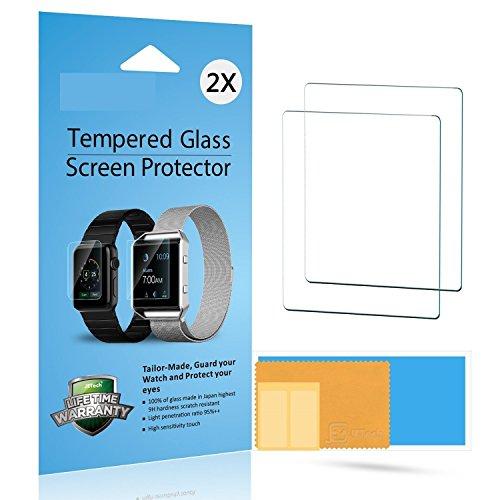 JETech 0870- Protector Pantalla Apple Watch, Vidrio Templado Protector de Pantalla (Screen Protector) para Apple Watch, 42mm 2-Pack