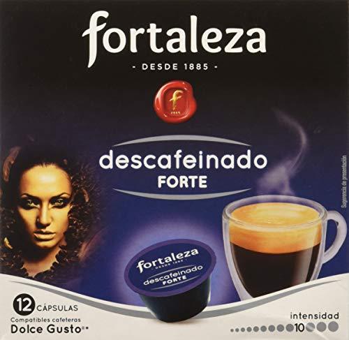 Café FORTALEZA - Cápsulas de Café Descafeinado Forte Compatibles con Dolce Gusto - Pack 3 x 12 - Total 36 cápsulas