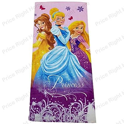 Serviette Sortie drap de bain plage Princesse Disney 70 cm x 140 cm Fille enfant 100 % Coton