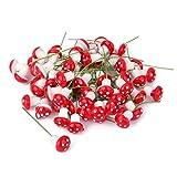 Lot de 100pcs Champignon Miniature en Mousse Décoration pour Micro ...