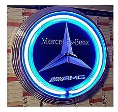 Idea Regalo - Neon Jack Daniel' s orologio da parete con luce blu neon Ring
