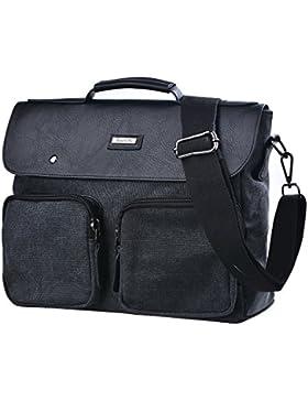 Gezu Canvas Umhängetasche Herren UniTasche Bürotasche Vintagetasche GZ00233