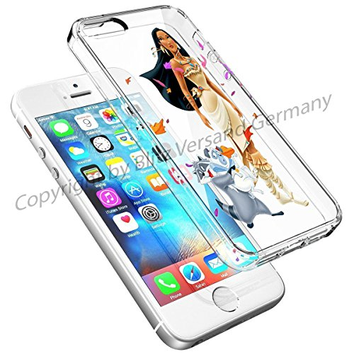 Blitz® DISNEY Schutz Hülle Transparent TPU Cartoon Comic Case iPhone Arielle, die Meerjungfrau iPhone 6 Pocahontas