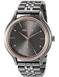 Nixon Women's 'Sala' Quartz Metal and Stainless Steel Automatic Watch, Color: Grey (Model: A9942271-00)