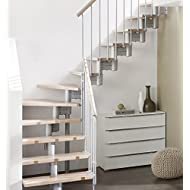 Profigold Space Saver Staircase Kit Manhattan Silver 40 mm Solid Beech in 700 or 800 mm width Silver