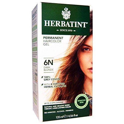 Phytoceutic Herbatint, Tinta permanente in gel per capelli, 6N Dark Blonde, 150ml