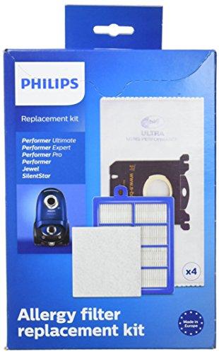 Philips FC8060/01 Ersatz-Set (für Staubsauger Performer Pro/Expert/Ultimate, Staubbeutel und Ersatzfilter) Ersatz-set