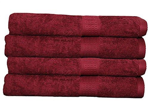 2 4 8 er Set Handtuch Badetuch Duschtuch Gästetuch 500g /m2 Baumwolle Bordeaux 4er Pack Handtücher 50x100