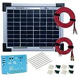 Kit Panel Solar monocristalino 5W 12V con regulador 5A y accesorios de cableado