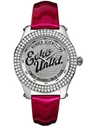 Marc Ecko Ladies Watch E10038M4 With Rollie Silver Dial And Red Patent Strap