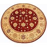 Runder Orient Teppich Ziegler ca. 198 cm Ø Rot - feine Qualität - moderner Teppich - oriental round carpet best quality
