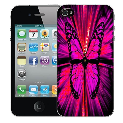 Mobile Case Mate iPhone 5 clip on Dur Coque couverture case cover Pare-chocs - doodles Motif enchanting butterfly
