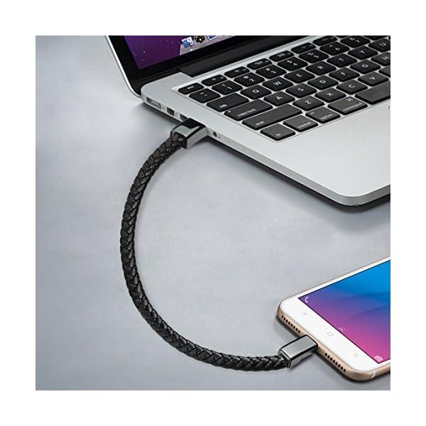 bsolli portátil Pulsera Pulsera Estilo USB Fecha Cable de Carga para Android Samsung, HTC, LG, Sony, Huawei, Motorola y más ( 7.2'' ) 2
