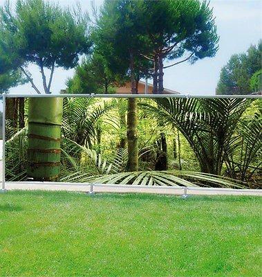 Stickersnews - Brise vue déco personnalisé jardins, terrasses et balcons Bambous réf 3626 Occultation - 100%, Dimensions - 250x97cm