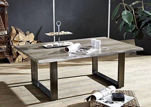Table basse 120x80cm - Bois massif de palissandre laqué (Smoked oak) - SIDNEY #0203