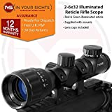 In Your Sights Air gun 2-6x32 Rifle scope, Adjustable objective lens scope