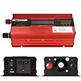 TOPmountain - 1000W Peak Power Inverter für Auto, DC 24V zu 220V AC Konverter mit Display und USB-Port für PhoneHome