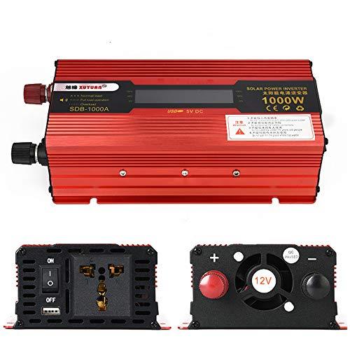 TOPmountain - 1000W Peak Power Inverter für Auto, DC 24V zu 220V AC Konverter mit Display und USB-Port für PhoneHome -