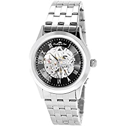 Lindberg&Sons - CHP188 - wrist watch for men - skeleton - automatic movement - analog display - stainless steel bracelet